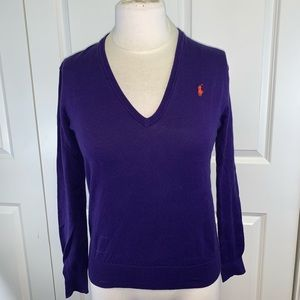 Polo Ralph Lauren Purple V-Neck Sweater